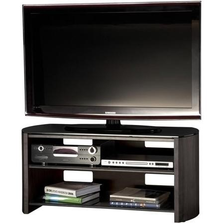 "FW1100-BV/B Alphason FW1100-BV/B Finewoods TV Stand for up to 50"" TVs - Black/Oak"