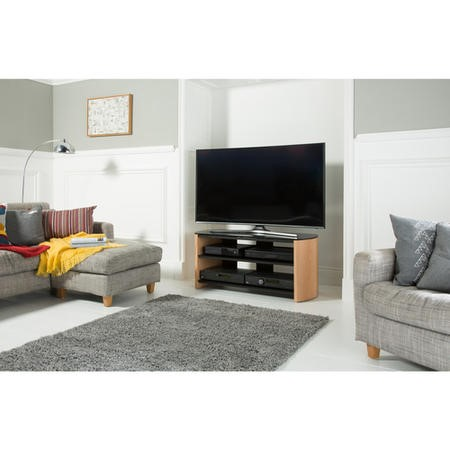 "FW1100-LO/B Alphason FW1100-LO/B Finewoods TV Stand for up to 50"" TVs - Black"