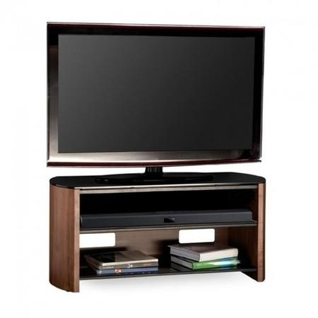 "FW1100-W/B Alphason FW1100-W/B Finewoods HiFi and TV Stand for up to 50"" TVs - Walnut"