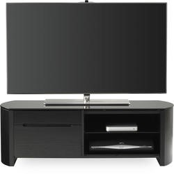Alphason FW1100CB-BLK Black Finewoods TV Stand - Up to 50 Inch