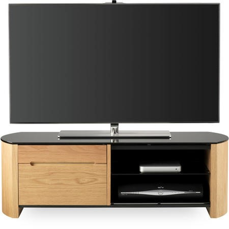 "Alphason FW1100CB-LO Finewoods TV Stand for up to 50"" TVs - Light Oak"