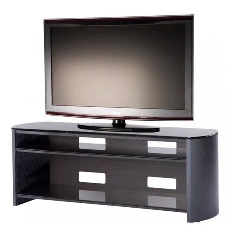 "FW1350-BV/B Alphason FW1350-BV/B Finewoods TV Stand for up to 60"" TVs - Black/Oak"