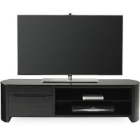 "Alphason FW1350CB-BLK Finewoods Cabinet TV Stand for up to 60"" TVs - Black/Oak"