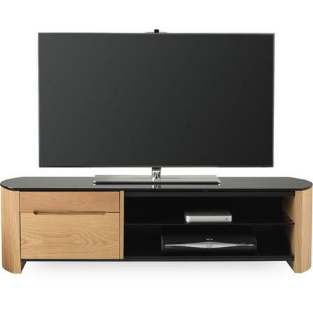"Alphason FW1350CB-LO Finewoods HiFi and TV Stand for up to 60"" TVs - Light Oak"