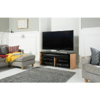 "Alphason FW1350SB-LO Finewoods Soundbar TV Stand for up to 60"" TVs - Light Oak"