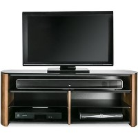 "Alphason FW1350SB-W Finewoods Soundbar TV Stand for up to 49"" TVs - Walnut"