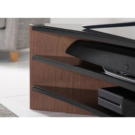 "Alphason FW1400C-BLK Finewoods Corner Black TV Stand for up to 60"" TVs"