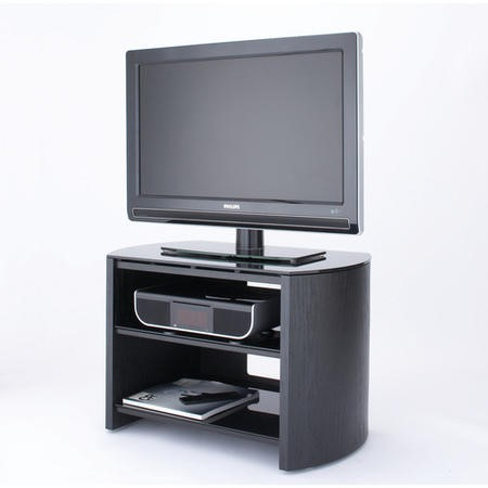 "FW750-BV/B Alphason FW750-BV/B Finewoods 3 Shelf TV Stand for up to 32"" TVs - Black/Oak"