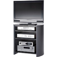 "Alphason FW750/4-BV/B Finewoods HiFi and TV Stand for up to 37"" TVs - Black"