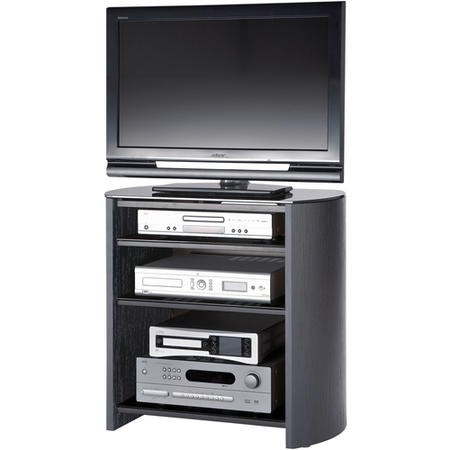 "FW750/4-BV/B Alphason FW750/4-BV/B Finewoods HiFi and TV Stand for up to 37"" TVs - Black"