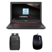 ASUS FX504GM Core I7-8750H 8GB 256GB SSD + 1TB GTX1060 6GB 15.6 Inch 120Hz Gaming Laptop Inc Bag & Mouse