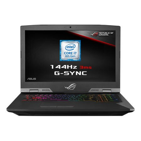 G703GS-E5001R Asus ROG Core i7-8750H 32GB 1TB + 512GB SSD GeForce GTX 1070 17.3 Inch Windows 10 Professional Gaming Laptop