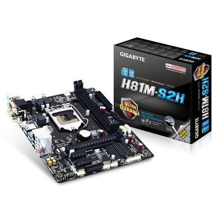 Gigabyte GA-H81M-S2H Intel H81 Chipset DDR3 Micro-ATX Motherboard