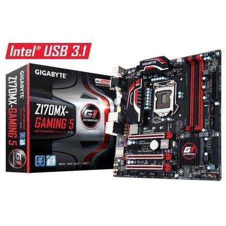 Gigabyte GA-Z170MX-Gaming 5 Intel Z170 Express Chipset also supports Core i7/i5/i3/Pentium & Celeron Socket 1151 4 x DDR4 Micro ATX Motherboard