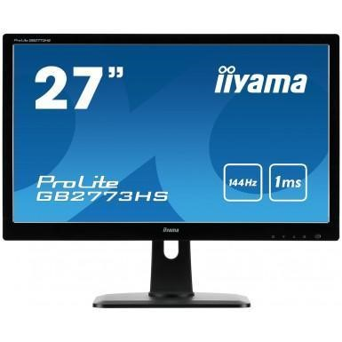 "Iiyama 27"" LED Monitor Piano Black Height Adjustable"