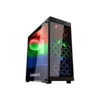 Game Max Polaris Black RGB 4 x 12cm RGB Fans Tempered Glass Side & Front Panels