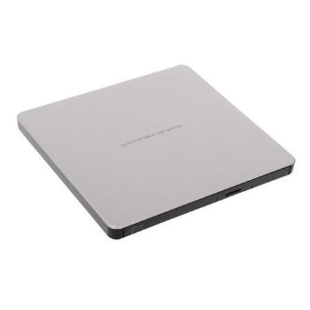 LG GP60NS60 DVD Writer 9.5 mm External Optical Drive in Silver