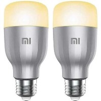 Xiaomi Mi Multicolour WiFi LED Smart Bulb with E27 Screw Ending - 2 Pack