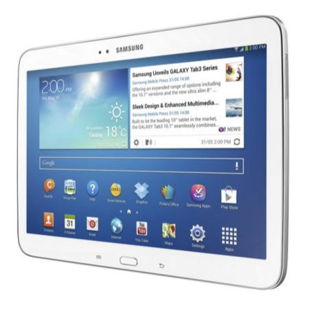 Refurbished Grade A1 Samsung Galaxy Tab 3 White Dual Core 1GB 16GB 10.1 inch Android 4.2 Jelly Bean Tablet in White
