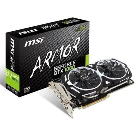 MSI ARMOR OC V1 GeForce GTX 1060 6GB GDDR5 Graphics Card
