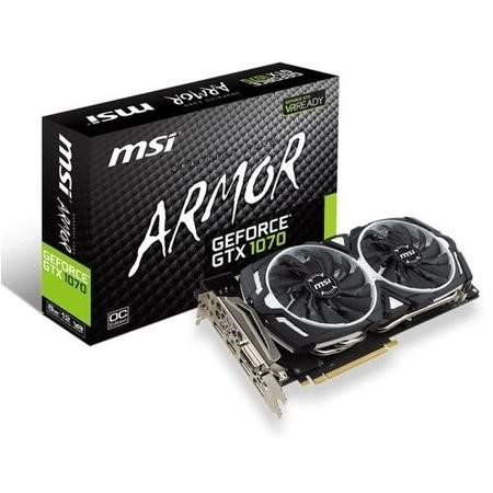 MSI ARMOR Geforce GTX 1070 8GB GDDR5 OC Graphics Card