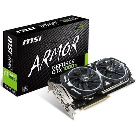 MSI ARMOR GeForce GTX 1080 Ti 11GB GDDR5X OC Graphics Card