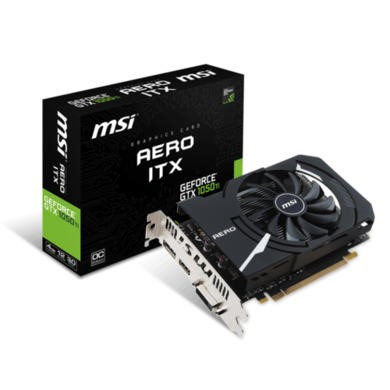 MSI Nvidia GeForce GTX 1050 Ti Aero ITX 4GB GDDR5 Graphics Card