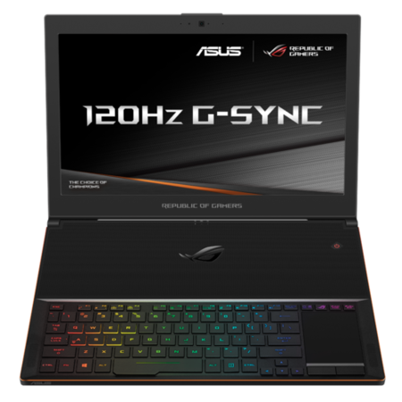 GX501VS-GZ058T Asus ROG Zephyrus GX501 Core i7-7700HQ 16GB 512GB SSD GeForce GTX 1070 15.6 Inch Windows 10 Ultra Thin Gaming Laptop