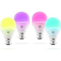 LiFX Smart Mini Colour and White WiFi LED Light Bulb with B22 Bayonet Ending - 4 Pack