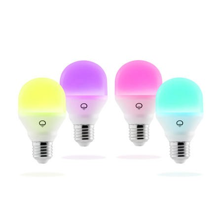 LiFX Smart Mini Colour and White WiFi LED Light Bulb with E27 Screw Ending - 4 Pack