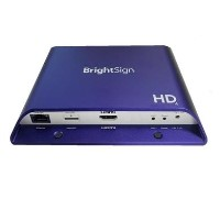 BrightSign H.265 Full HD mainstream HTML5 player with standard I/O package
