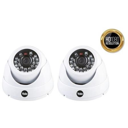 Yale HD 1080p Twin Pack Indoor Dome Camera with 30m Night Vision
