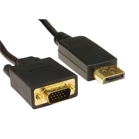Cables Direct 2m Display Port Male - VGA Single Link Female Cable