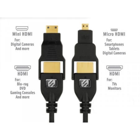 trueVIEW MULTI 6 FT HDMI WITH MINI AND MICRO HDMI CABLE