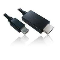 Cables Direct 2m Mini Display Port M - HDMI M Cable in Black