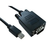 Cables Direct 2m Mini Display Port M - VGA M Cable in Black