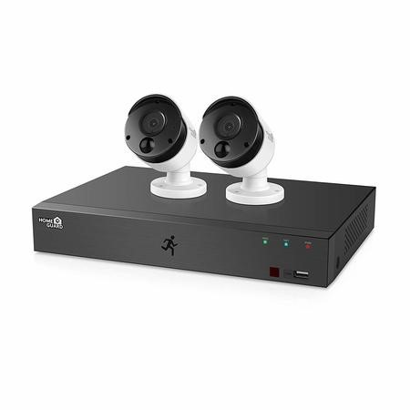 GRADE A2 - HomeGuard CCTV System - 4 Channel 1080p DVR with 2 x 1080p HD Cameras & 1TB HDD