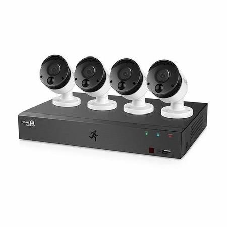 HGDVK84404-1 HomeGuard 1080P 8CH DVR & 4x 1080P PIR Heat-sensing Day/Night CCTV Cameras 1TB