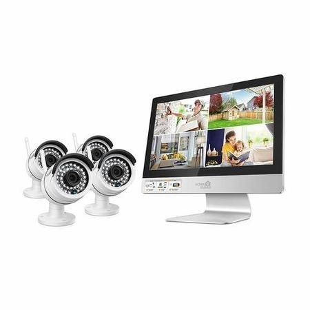 "HomeGuard CCTV System - 4 Channel Wireless Security System with 12"" HD Monitor & 4 x 960p HD Day/Night Cameras & 1TB HDD"