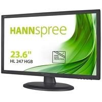 "Hanns G HL247HGB 24"" VGA DVI HDMI Speakers Monitor"