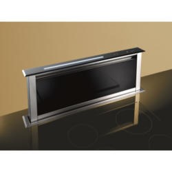 Best HOOD-BE-LE-90-GL Lift 90cm Downdraft Extractor in Black Glass External Motor Version