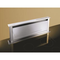 Best HOOD-BE-LE-90-WH Lift 90cm Downdraft Extractor in White Glass External Motor Version