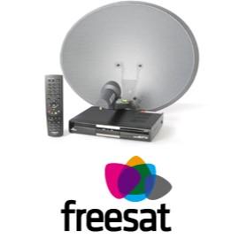 Freesat installation including satellite dish