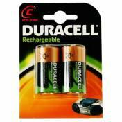 Duracell Recharable Battery C Size 1 x 2 Pack