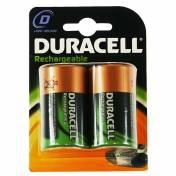 Duracell Recharable Battery D Size 1 x 2 Pack