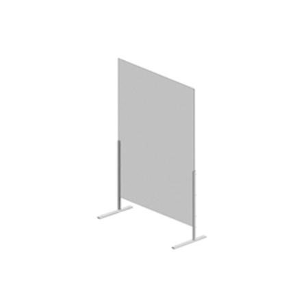 Hygiene Tech Protective Screen Perspex 1 Metre High Free Standing - 100cm x 75cm x 4mm