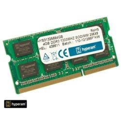 Hyperam 4GB SoDimm DDR3 PC3-10600/1333 Laptop RAM