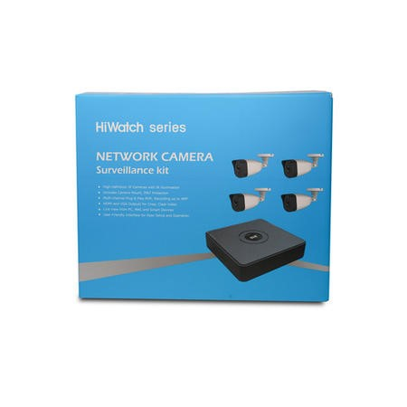 Hikvision HiWatch CCTV System - 4 Channel 1080p NVR with 4 x 1080p Bullet Cameras & 1TB HDD