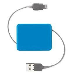 Retractable Charge & Sync Cable wit KeyChain for new Apple devices - Blue