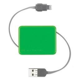 Retractable Charge & Sync Cable wit KeyChain for new Apple devices - Green